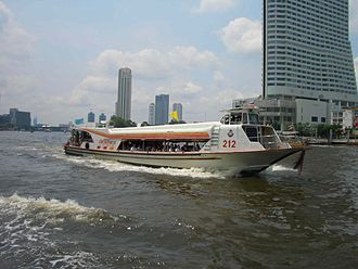 """Chao Phraya Express Boat - Chao Phraya Express Boat with """"Yellow flag"""""""