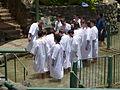 Baptism in Jordan River P1020576.JPG