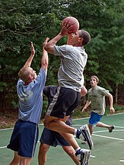 Barack Obama basketball at Martha's Vineyard