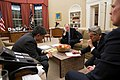 Barack Obama in the Oval Office talking to Mohammed Morsi.jpg