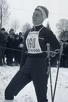 Barbro Martinsson at a local ski race 1960's.jpg