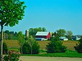 Barn and Silos South of Sun Prairie - panoramio.jpg