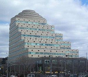 Fordham Plaza, Bronx - Image: Barnabas Hospital Pyramid Fordham jeh