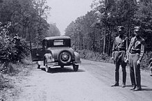 32 26 28 21 N 93 5 33 23 W 4411694 0925639 Site Of Bonnie Parker And Clyde Barrow Ambush