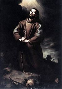 Bartolomé Esteban Murillo - St Francis of Assisi at Prayer.JPG