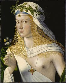 Portrait of a Woman by Bartolomeo Veneto, traditionally assumed to be Lucrezia Borgia.