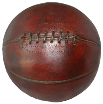 Old style basketball with laces Basketball historic.tif
