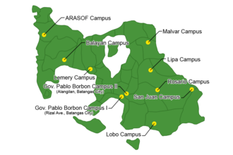 Batangas State University - Image: Batangas State University Campuses