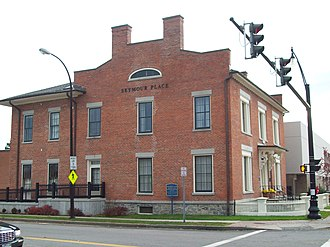 National Register of Historic Places listings in Genesee County, New York - Image: Batavia Club Oct 09