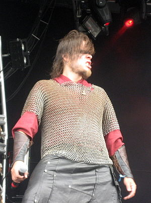 Battlelore -  Tomi Mykkänen at Bloodstock Open Air Festival 2009 in England.