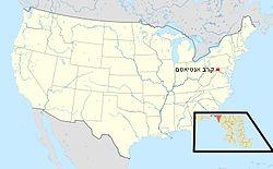 קרב אנטיאטם במפת ארצות הברית, ובמפת מרילנד