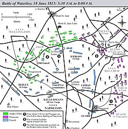 Battle of Waterloo map