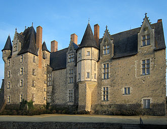 René of Anjou - The castle of Baugé, home castle of René, Duke of Anjou, in the village of Baugé, Maine-et-Loire, France.