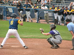 California Golden Bears - Cal batting against Washington in April 2010.