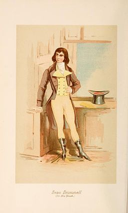 Beau Brummell - illustration de 1886