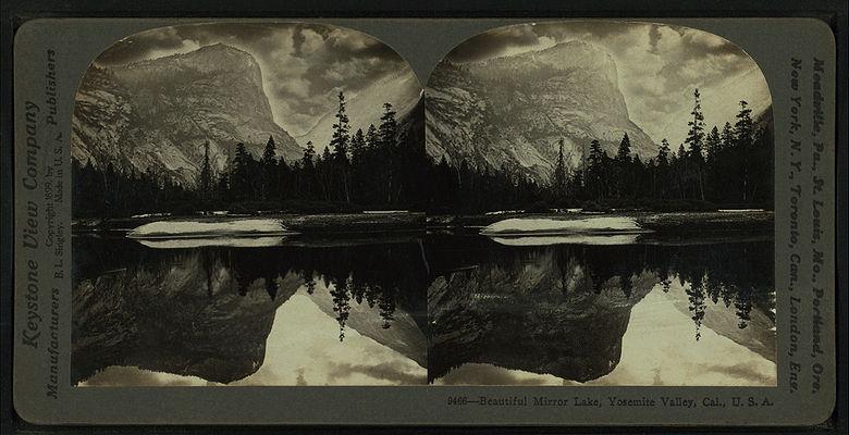 Beautiful Mirror Lake, Yosemite Valley, Cal. U.S.A, by Singley, B. L. (Benjamin Lloyd).jpg