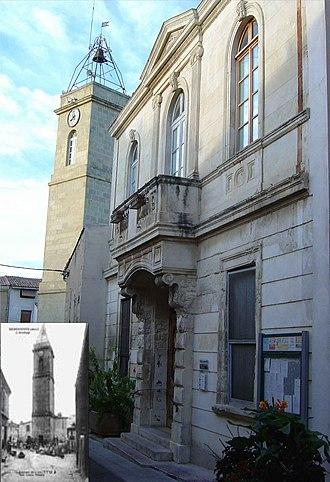 Beauvoisin, Gard - Image: Beauvoisin la Mairie et l'Horloge en 2006 et 1900