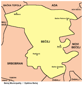 becej mapa Bečej (općina) – Wikipedija becej mapa