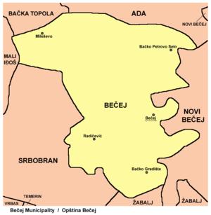 becej mapa Opština Bečej   Wikipedia becej mapa