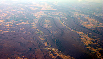 Wills Mountain - Wills Mountain (center) as viewed from the air.