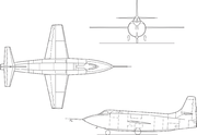 Bell X-1E line drawing