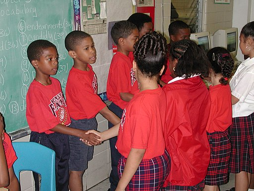 Ben Franklin Elementary 12 NOLA Shaking Hands
