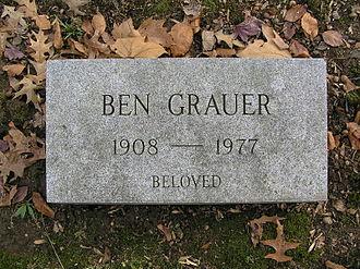 Ben Grauer - The grave marker of Ben Grauer