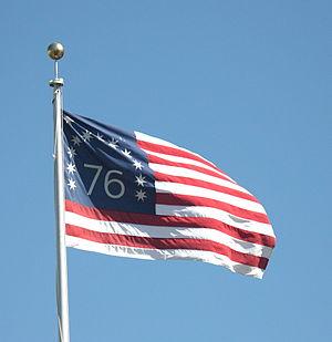Bennington flag - A replica of the flag flying outside San Francisco City Hall
