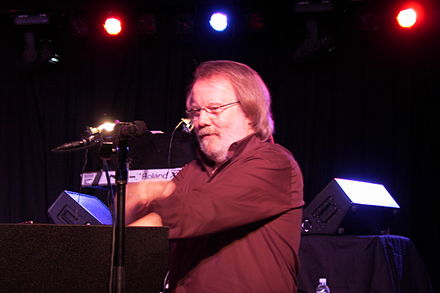 Benny Andersson during a performance in Minnesota, 2006 Benny Andersson ABBA.jpg