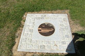 Lyonel Feininger - Feininger Tour marker in Benz, Usedom Island, Germany