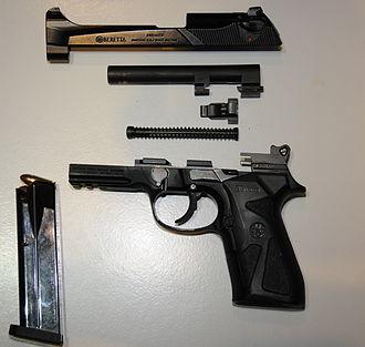 Beretta 90two - Image: Beretta 90 TWO field stripped