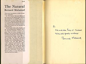 The Natural - Image: Bernard Malamud The Natural signed copy