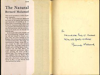 Bernard Malamud - Image: Bernard Malamud The Natural signed copy