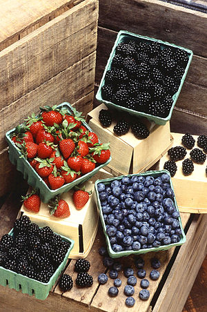 "Several types of common ""berries"", o..."