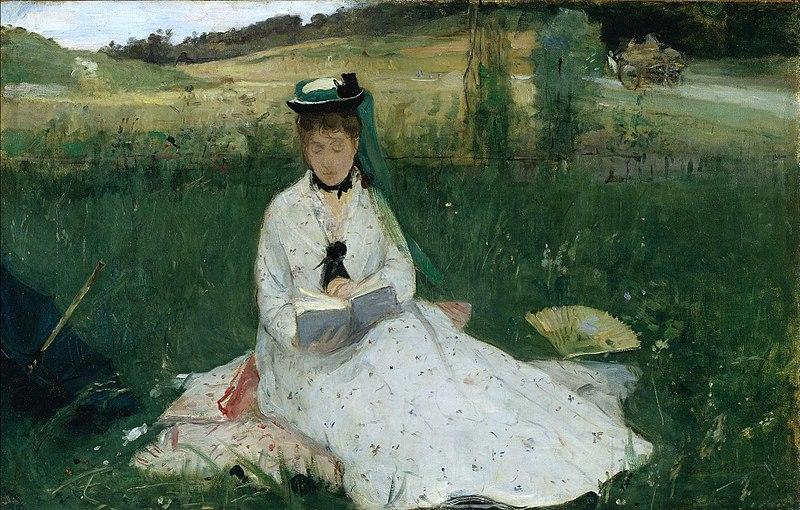Challenge Littérature et Impressionnisme 800px-Berthe_Morisot_-_La_Lecture_%281873%29