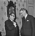 Besprekingen over ontwikkelingshulp door de Westduitse minister H.J. Wischnewski, Bestanddeelnr 920-9805.jpg