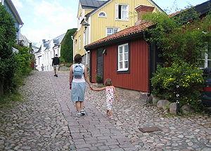 Oskarshamn - Besvärsgränd in Oskarshamn.