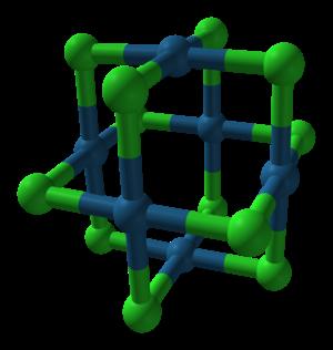 Platinum(II) chloride - Image: Beta platinum(II) chloride from xtal 3D balls A