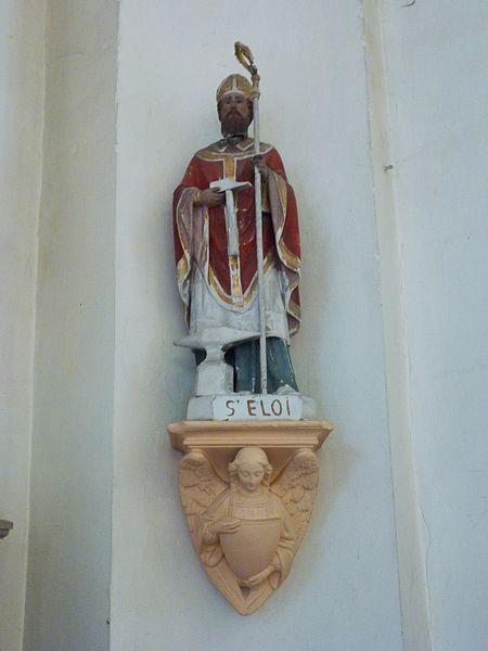 Beuvry-la-Forêt (Nord, Fr) église, statue St.Eloi