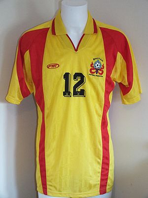FBT (company) - Official Bhutan home shirt worn during The Other Final against Montserrat in 2002.