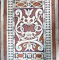 Biblioteca laurenziana, sala lettura, pavimento, 04, mascherone centrale.jpg