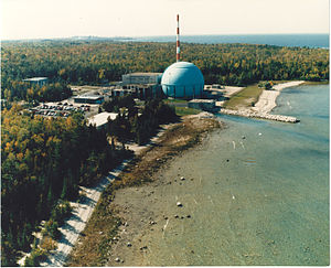 Big Rock Point Nuclear Power Plant - Image: Big Rock Point Nuclear Power Plant Aerial View 001