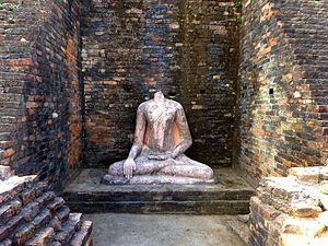Kesaria stupa - Buddha Statue, Kesariya