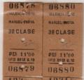 Billete de tren de Valencia a Manuel-Énova 1957.png