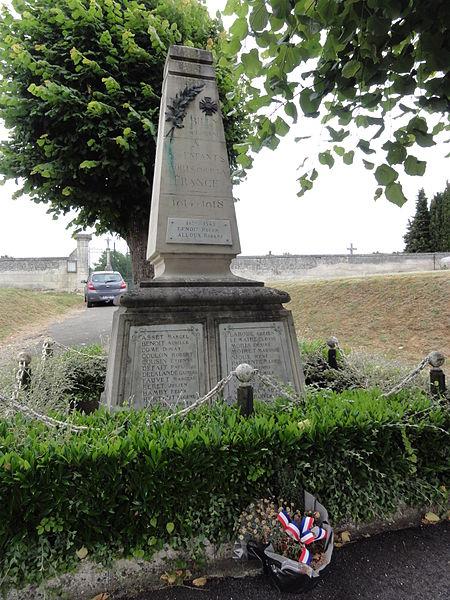 Billy-sur-Aisne (Aisne) monument aux morts