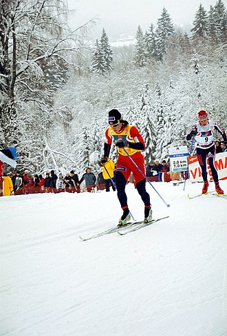 Marit Bjørgen - Marit Bjørgen in Otepää during the 2005–06 FIS Cross-Country World Cup
