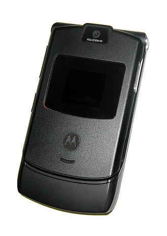 Motorola Mobility - Black RAZR V3