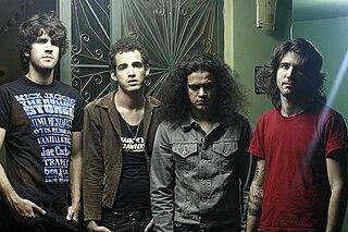 Black Drawing Chalks Brazilian rock band