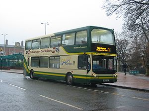 Blackburn Transport - East Lancs Myllennium Lolyne bodied Dennis Trident 2 in January 2004