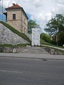 Blessed Virgin Mary, the Bridge Protector and the Custom House of Maria Valeria Bridge, Esztergom, Hungary.jpg
